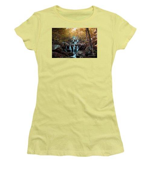Autumn In The Mountains Women's T-Shirt (Junior Cut) by Rebecca Davis