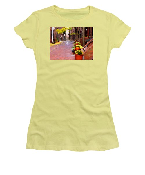 Women's T-Shirt (Junior Cut) featuring the photograph Autumn In The North End by Bruce Carpenter