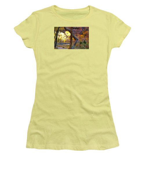 Autumn In Zion Women's T-Shirt (Athletic Fit)