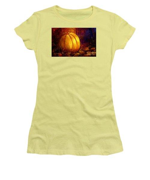 Autumn Landscape Painting Women's T-Shirt (Junior Cut) by Annie Zeno