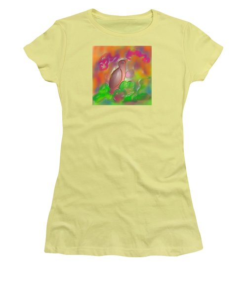 Women's T-Shirt (Junior Cut) featuring the digital art Autumn by Latha Gokuldas Panicker