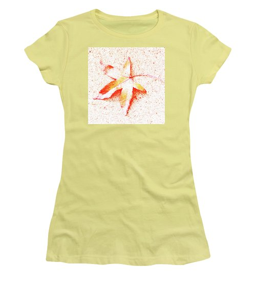 Autumn Leaf Art Women's T-Shirt (Athletic Fit)