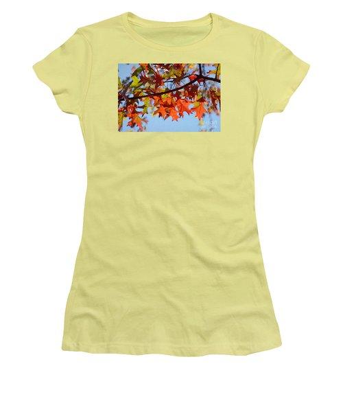 Autumn Leaves 16 Women's T-Shirt (Junior Cut) by Jean Bernard Roussilhe