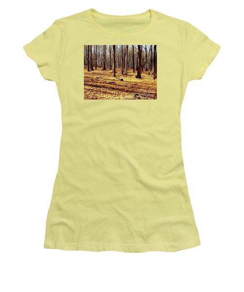 Autumn Leaves Women's T-Shirt (Junior Cut) by Vicky Tarcau