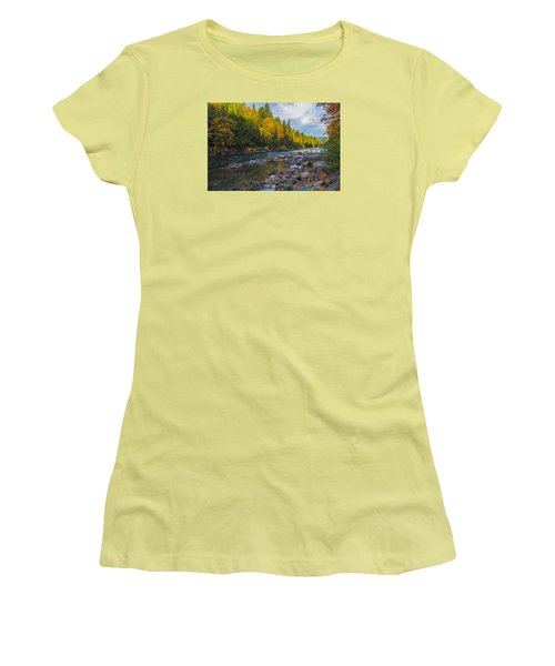 Autumn Morning Light On The Snoqualmie Women's T-Shirt (Junior Cut) by Ken Stanback