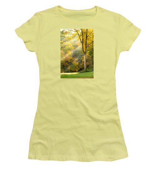 Autumn Morning Rays Women's T-Shirt (Junior Cut) by Brian Caldwell