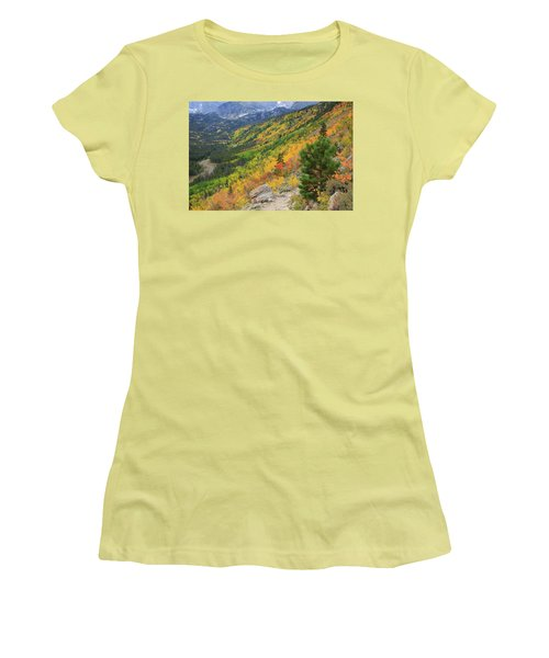 Autumn On Bierstadt Trail Women's T-Shirt (Athletic Fit)