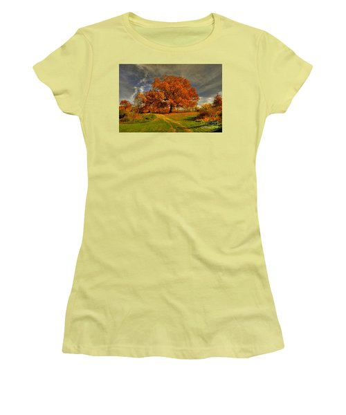 Autumn Picnic On The Hill Women's T-Shirt (Athletic Fit)