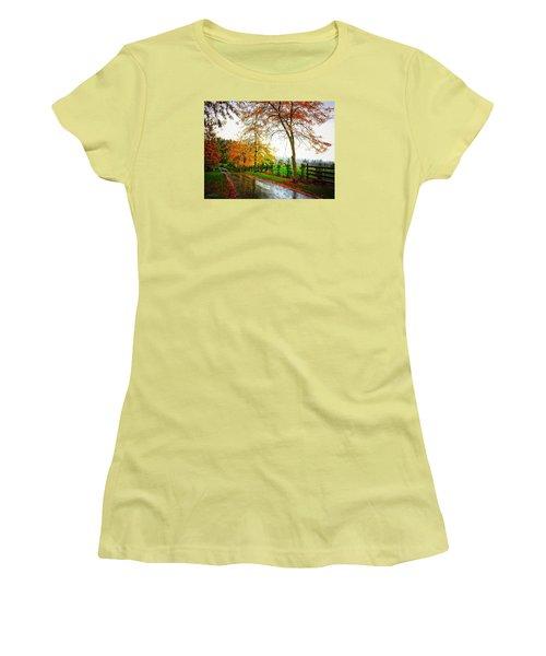Autumn Rains Women's T-Shirt (Athletic Fit)