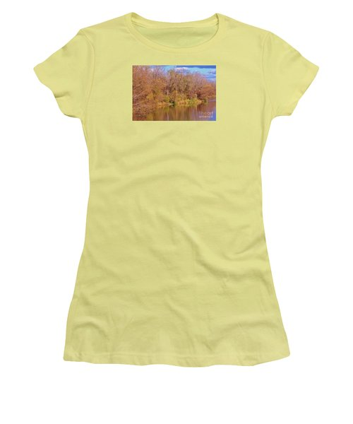 Autumn Reflections Women's T-Shirt (Junior Cut) by Reb Frost