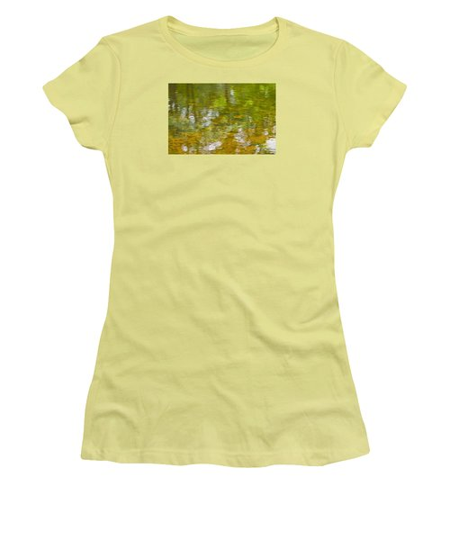 Women's T-Shirt (Athletic Fit) featuring the photograph Autumn Reflections by Wanda Krack