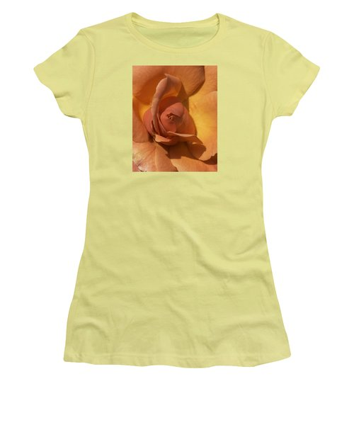 Autumn Rose Women's T-Shirt (Junior Cut) by Cathy Donohoue