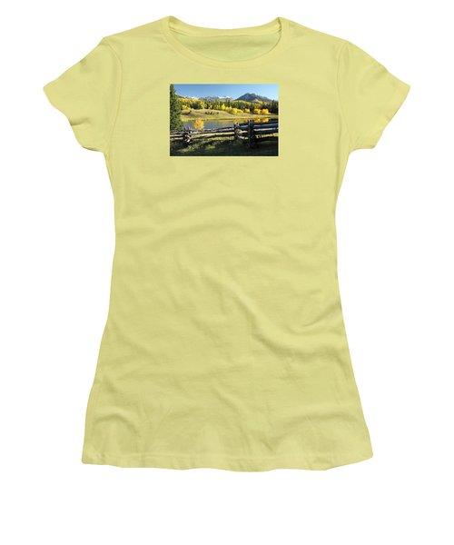 Autumn Serenade Women's T-Shirt (Junior Cut) by Eric Glaser