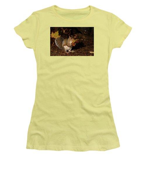 Autumn Squirrel Women's T-Shirt (Junior Cut) by Matt Malloy
