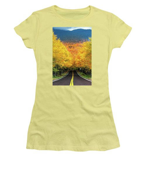 Autumn Tree Tunnel Women's T-Shirt (Athletic Fit)