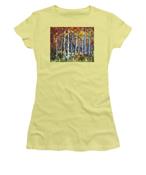 Autumn Trees Women's T-Shirt (Junior Cut) by Jennifer Beaudet