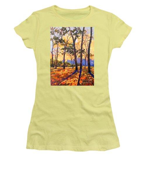 Autumn Walk Women's T-Shirt (Athletic Fit)