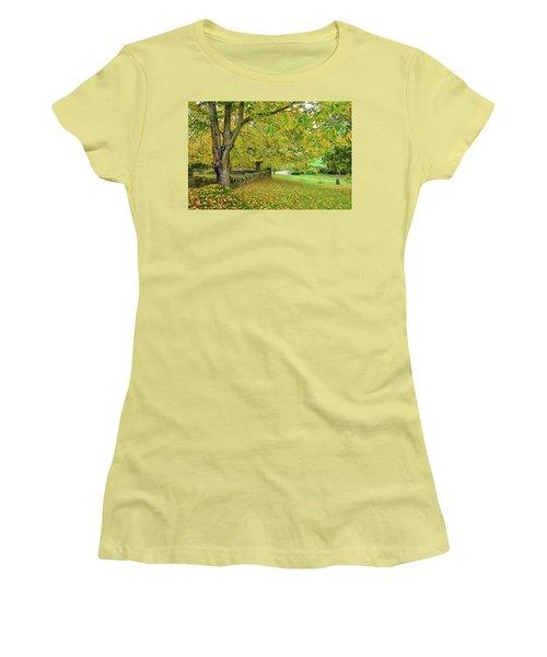 Autumn Wonderland Women's T-Shirt (Athletic Fit)