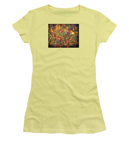 Autumnal Leaves Women's T-Shirt (Athletic Fit)