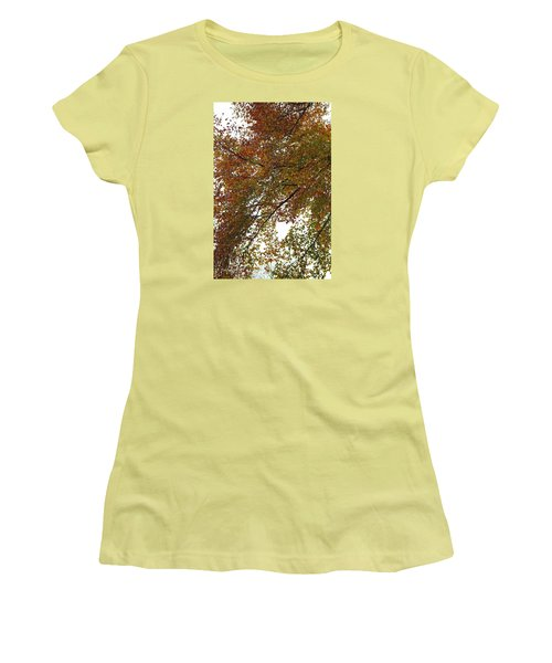 Autumn's Abstract Women's T-Shirt (Junior Cut) by Deborah  Crew-Johnson