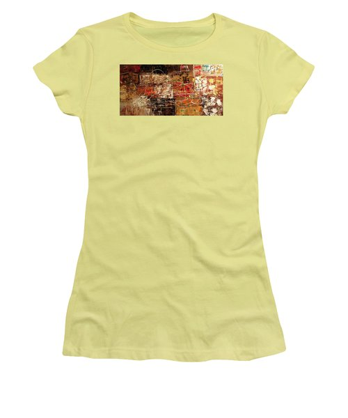 Women's T-Shirt (Junior Cut) featuring the painting Avant Garde by Carmen Guedez