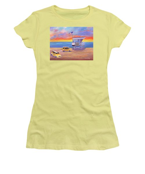 Women's T-Shirt (Athletic Fit) featuring the painting Avenue C by Jamie Frier