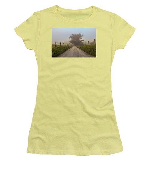 Women's T-Shirt (Junior Cut) featuring the photograph Awaiting The Horizon by Jessica Brawley
