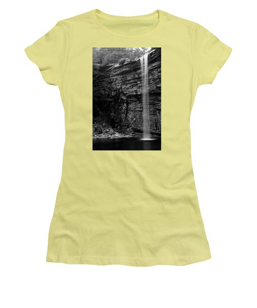 Awosting Falls In Spring #4 Women's T-Shirt (Junior Cut) by Jeff Severson