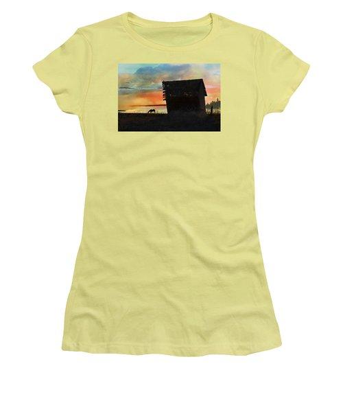 B. C. Barn # 1672 Women's T-Shirt (Junior Cut) by Ed Hall