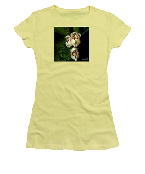 Babies In The Cradle - Floral Oddity Women's T-Shirt (Junior Cut) by Merton Allen
