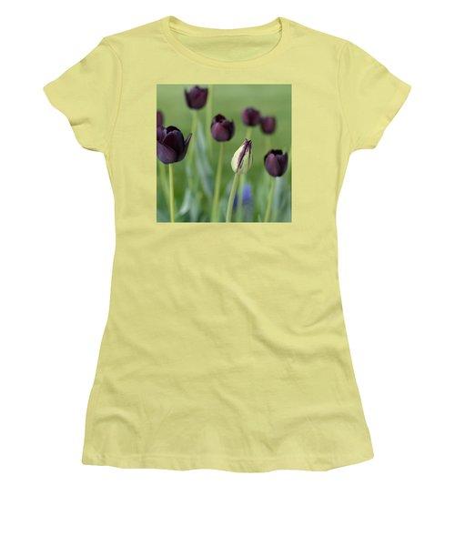 Baby Bloomer Women's T-Shirt (Junior Cut) by Linda Mishler
