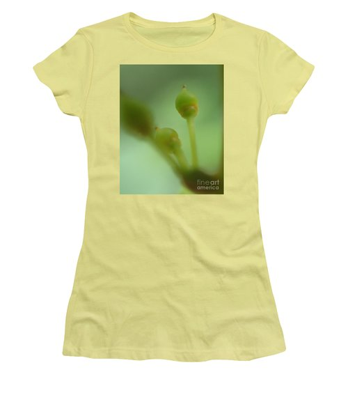 Baby Grapes Women's T-Shirt (Junior Cut) by Christina Verdgeline