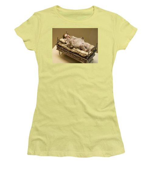 Baby Jesus In Lace Women's T-Shirt (Junior Cut) by Lorraine Devon Wilke