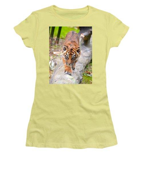 Baby Sumatran Tiger Cub Women's T-Shirt (Athletic Fit)