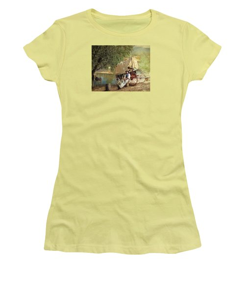 Women's T-Shirt (Junior Cut) featuring the photograph Back Country Camp Out by Rhonda Strickland