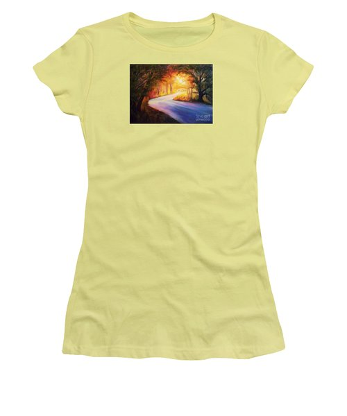 Back Road To Paradise Women's T-Shirt (Junior Cut) by Karen Kennedy Chatham
