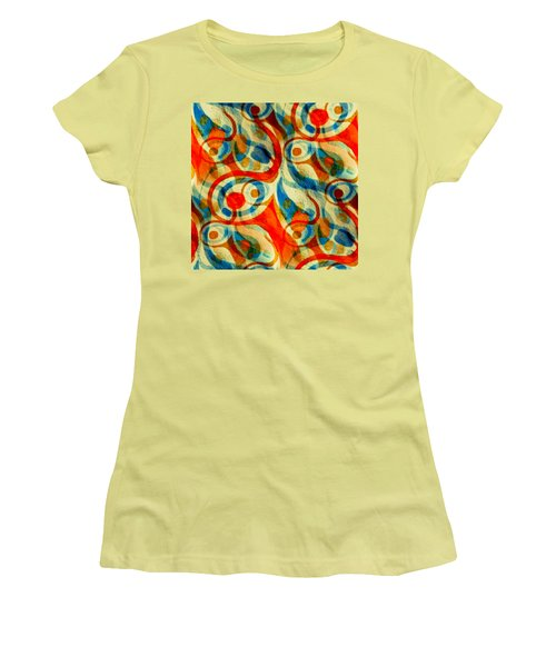 Background Choice Coffee Time Abstract Women's T-Shirt (Athletic Fit)