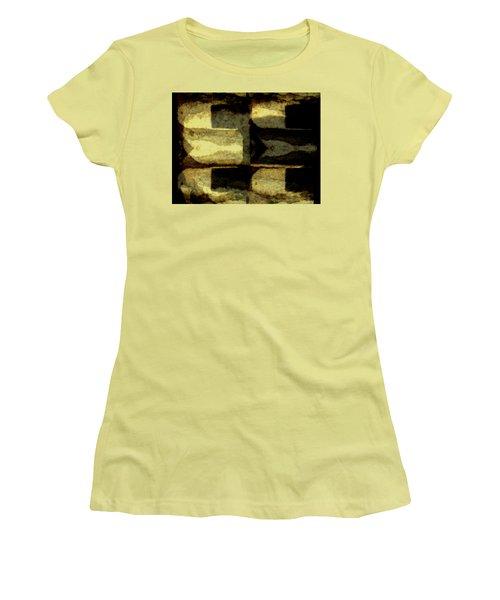 Colour Choice Stone Abstract Women's T-Shirt (Junior Cut) by Barbara Moignard