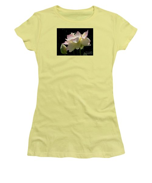 Backlit Lotus Blossom Women's T-Shirt (Athletic Fit)