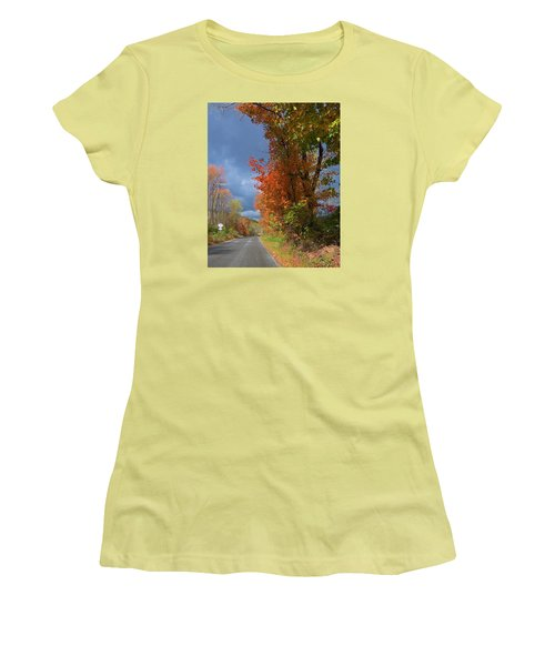 Women's T-Shirt (Junior Cut) featuring the photograph Backroad Country In Pennsylvania by Jeanette Oberholtzer