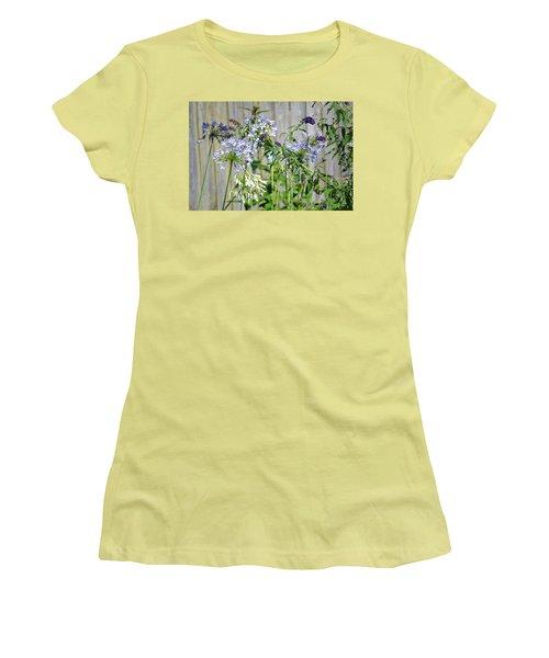 Backyard Flowers Women's T-Shirt (Athletic Fit)