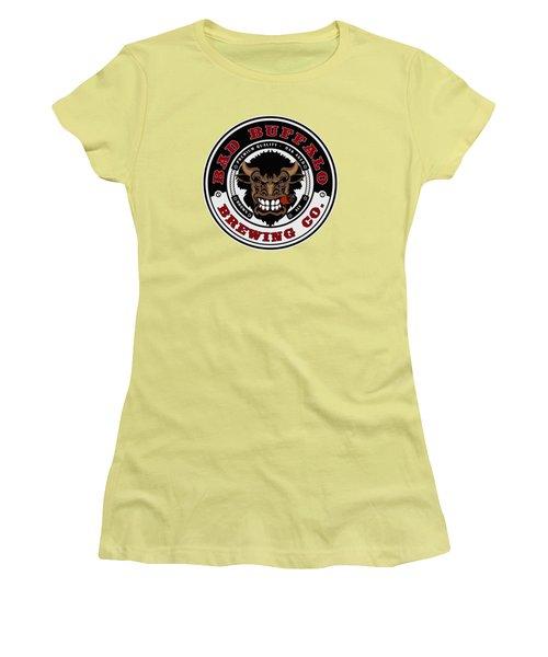 Bad Buffalo Brewing Women's T-Shirt (Junior Cut) by Christopher Williams
