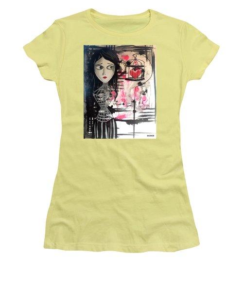 Badheart Women's T-Shirt (Athletic Fit)