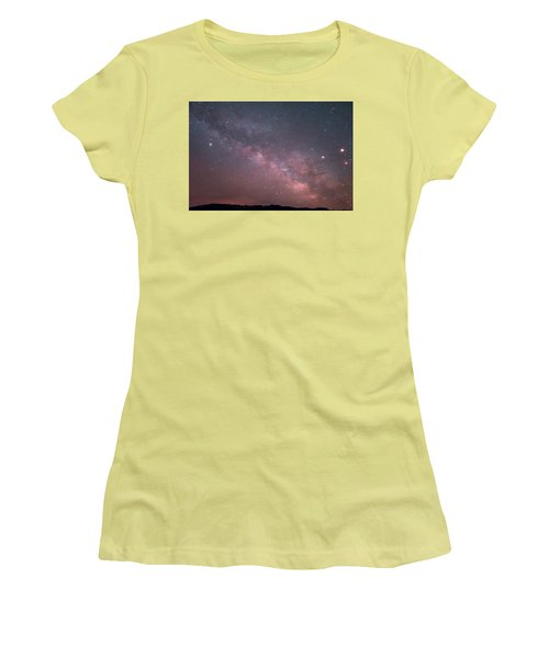 Badlands Milky Way Women's T-Shirt (Athletic Fit)