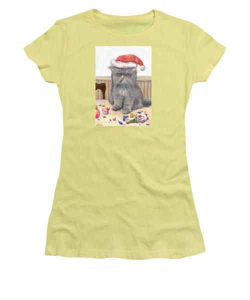 Bah Humbug Women's T-Shirt (Junior Cut) by Donna Tucker