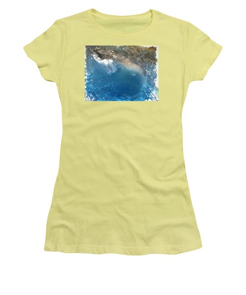 Women's T-Shirt (Athletic Fit) featuring the painting Bajamar by Antonio Romero