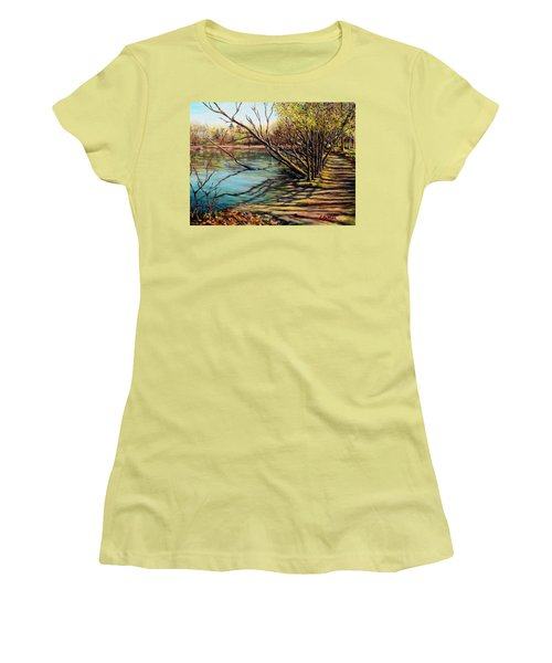 Bakers Pond Ipswich Ma Women's T-Shirt (Junior Cut) by Eileen Patten Oliver