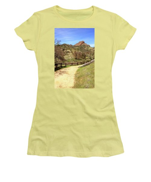 Women's T-Shirt (Junior Cut) featuring the photograph Balconies Trail - Pinnacles National Park by Art Block Collections