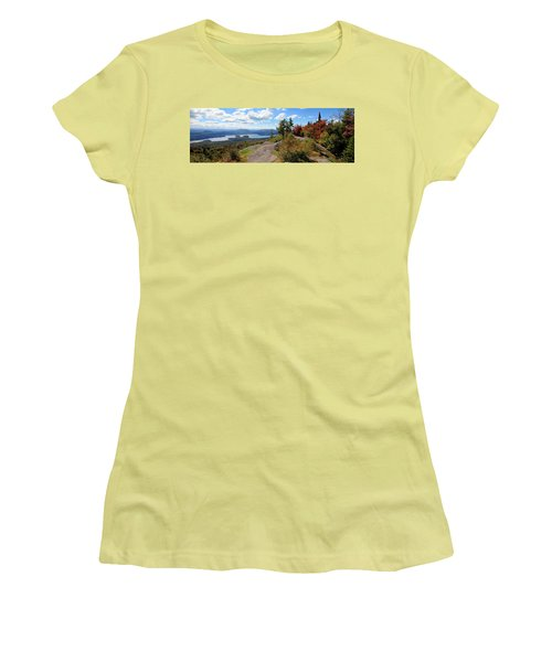 Bald Mountain Autumn Panorama Women's T-Shirt (Athletic Fit)