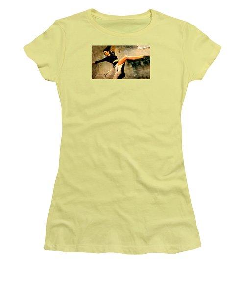 Ballet Windows Women's T-Shirt (Junior Cut) by Diana Angstadt